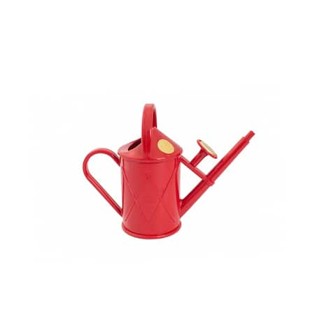 Haws Heritage 2 Pint Red Plastic Watering Can - 2 Pint