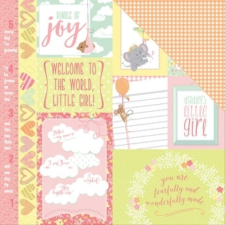 "About A Little Girl Double-Sided Cardstock 12""X12""-Precious"