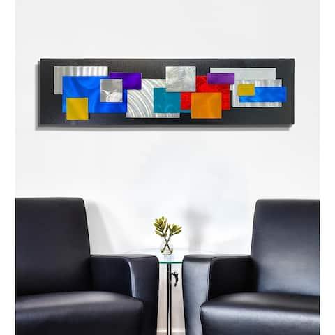 Statements2000 Metal Wall Art Sculpture Multicolor Geometric by Jon Allen - Modern Secret