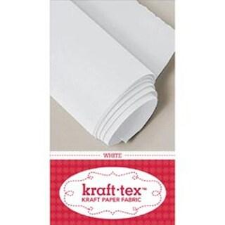 "White - Kraft-Tex Kraft Paper Fabric 19""X54"""