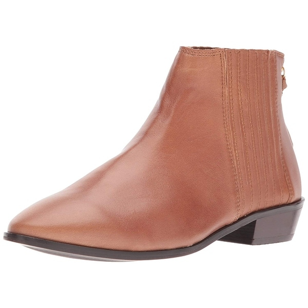 Kenneth Cole REACTION Women's Loop-y Flat Finger Gusset Leather Ankle Bootie