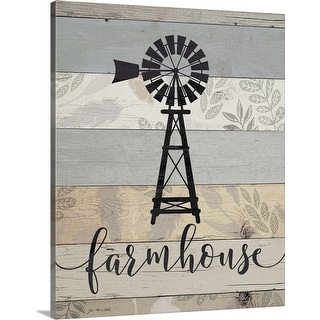 """Farmhouse"" Canvas Wall Art"