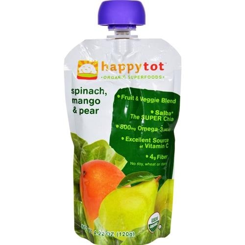 Happy Family - Organic Superfoods - Spinach Mango And Pear ( 16 - 4.22 OZ)