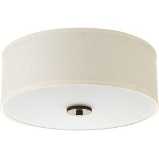 "Progress Lighting P3713 Inspire 2 Light 13"" Wide Flush Mount Drum Ceiling Fixtur"