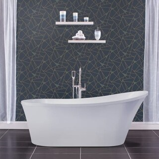 "Miseno MNO7035FSO 70"" Oval Free Standing Bathtub with Slipper Back - Reversible"