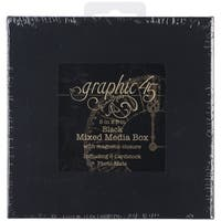 Graphic 45 Mixed Media Box, 5 by 5-Inch, Black