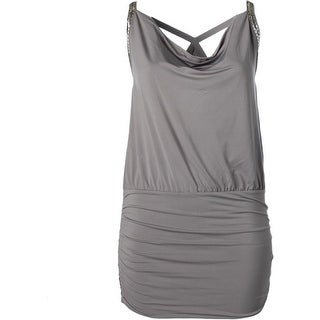 Guess Womens Embellished Sleeveless Clubwear Dress - L