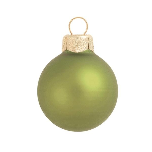 """6ct Matte Light Green Glass Ball Christmas Ornaments 4"""" (100mm)"""