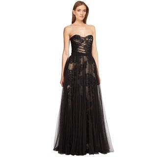 Pamella Pamella Roland Lace & Tulle Strapless Evening Gown Dress - 10