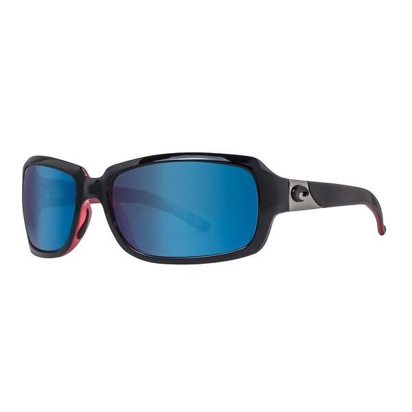 b5b5e98bae1bb Costa Del Mar Isabela IB32OBMP Black Coral Pink 580P Blue Mirror Wrap  Sunglasses - black coral