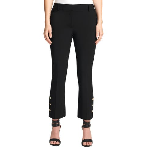 DKNY Womens Petites Ankle Pants Office Business - Black