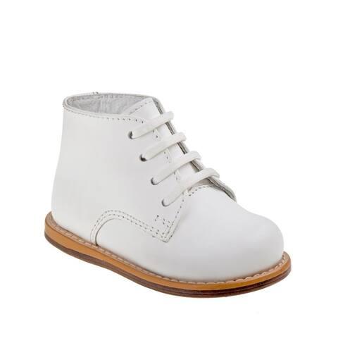 Josmo Unisex Little Kids White Hard Sole Wide Size Walker Shoes