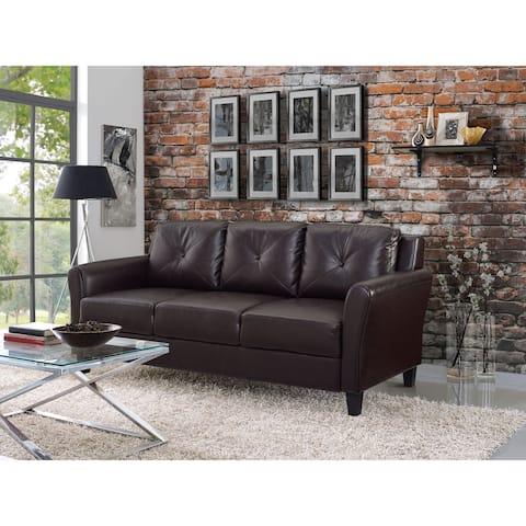 iLounge Harvard Faux Leather Sofa