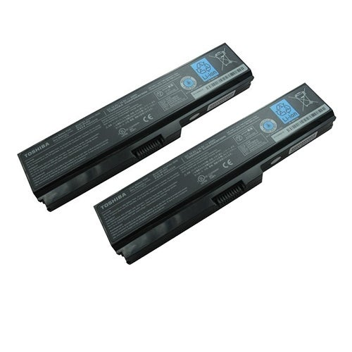 Replacement 4400mAh Toshiba PA3728U Battery for EX/46 / SS M50 / TX/77 Dynabook Laptop Series (2 Pack)