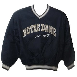 Lou Holtz Autographed Notre Dame Fighting Irish Pullover Size L Jacket JSA