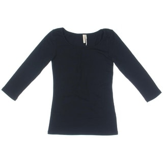Frenchi Girls 3/4 Sleeves Scoop Neck Pullover Top - XS