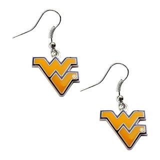 West Virginia Mountaineers Dangle Logo Earring Set NCAA Charm Gift
