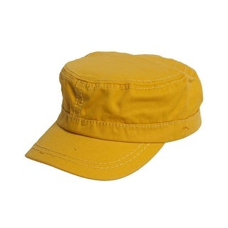 Women's Washed Military Cadet Style Cap - Yellow