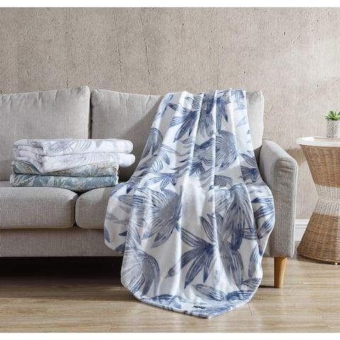 Tommy Bahama Printed Ultra Soft Plush Throw Blanket