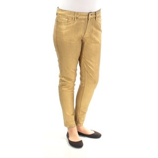 Womens Gold Party Pants Size 4