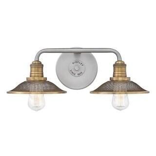 "Hinkley Lighting 5292AN Rigby 2 Light 19"" Wide Bathroom Vanity Light with Mesh Shades"