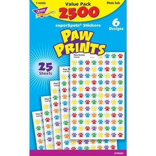 Paw Prints Superspots Stickers