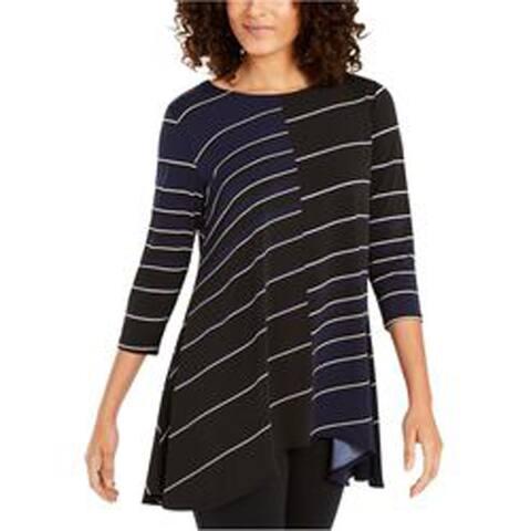 Alfani Women's Knit Swing Top, Traverse Stripe, Small