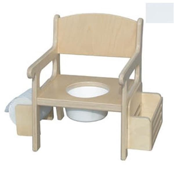 Handcrafted Potty Chair with Accessories in Solid White