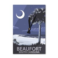 Beaufort, SC - Palmetto Moon - LP Artwork (Acrylic Wall Clock) - acrylic wall clock