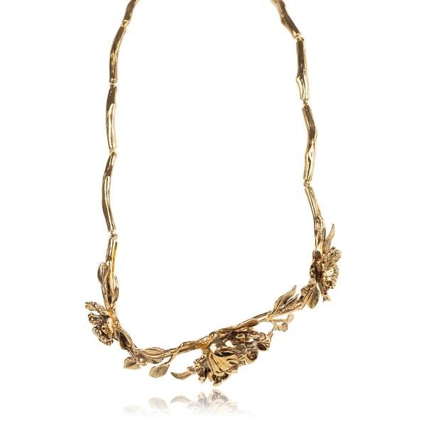 Roberto Cavalli Blossom Metal Gold Plated Belt