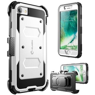 i-Blason-iPhone 7 Plus Case, [Armorbox]built in Bumper Case-White