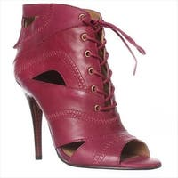 Nine West Acomplise Lace Up Ankle Boots, Purple
