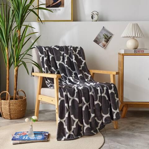 Microplush Fleece Ultra-soft Patterned Velvet Throw Blanket