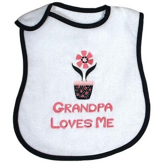 "Raindrops Unisex Baby ""Grandpa Loves Me"" Embroidered Bib, Black - One size"