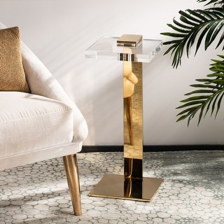 """Safavieh Couture Mars Acrylic Drink Table - 9.8"""" W x 9.8"""" L x 24"""" H"""