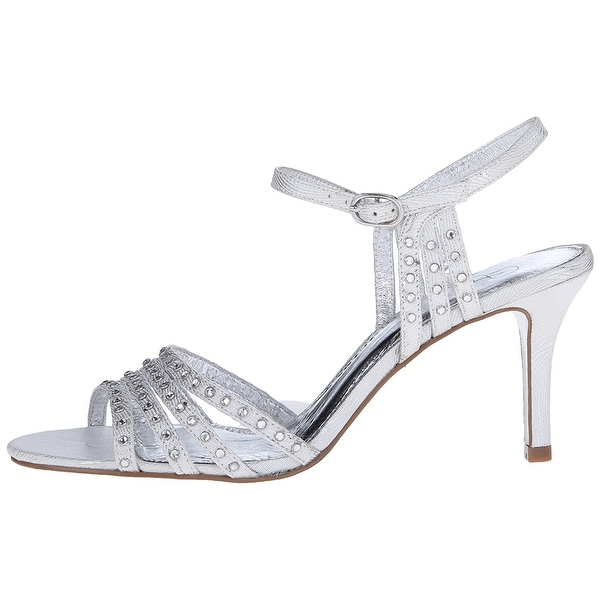 Adrianna Papell Womens Vonia Leather Open Toe Bridal Slingback Sandals