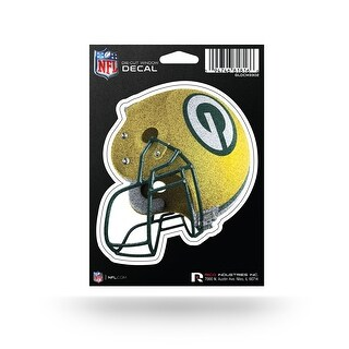 Green Bay Packers Bling Medium Die Cut Helmet Decal