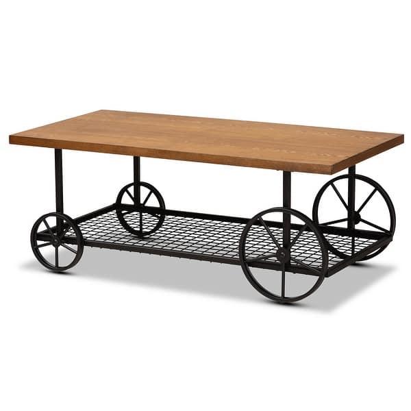 Ursa Vintage Rustic Industrial Coffee Table Overstock 31980657