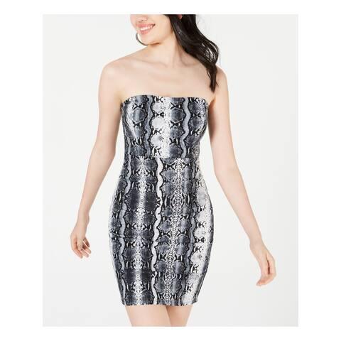 JUMP Womens Gray Sleeveless Mini Body Con Cocktail Dress Size XL