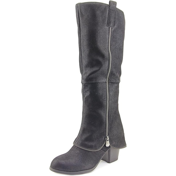 Fergalicious Tune Up Round Toe Synthetic Knee High Boot