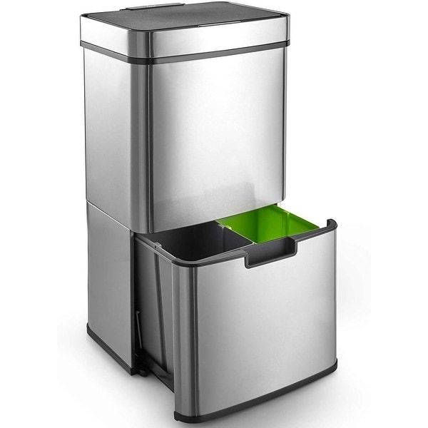 Caynel 16.3 gallon Motion Sensor Stainless Steel Trashcan
