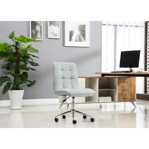Porthos Home Leona Adjustable Steel and Faux Leather Office Chair