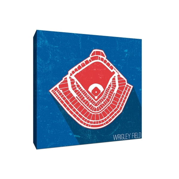 Wrigley Field Seating Map - MLB Seating Map - 24x24 Gallery Wrapped Canvas