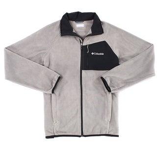 Columbia Gray Mens Size Medium M Colorblock Full Zip Fleece Jacket
