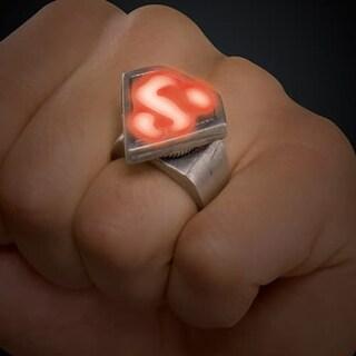 Superman Led Light Up Ring - Red