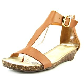 Kenneth Cole Reaction Great Gal Women  Open Toe Leather Brown Wedge Sandal