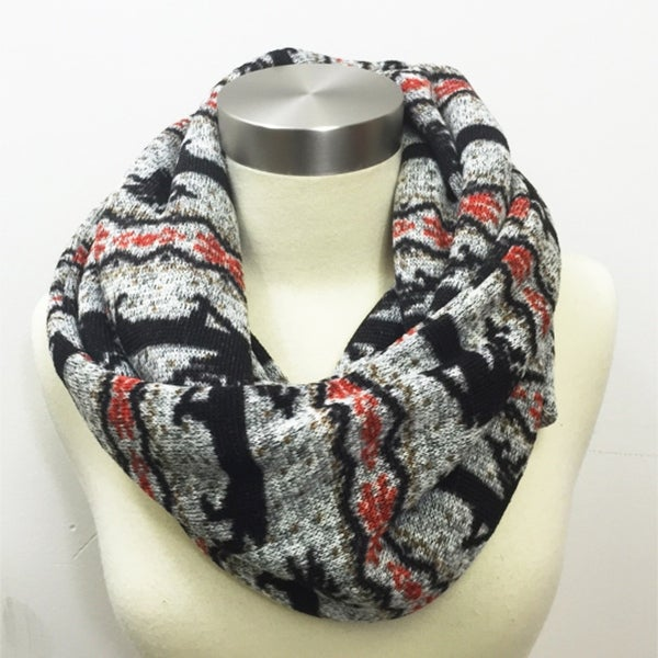 a44e5b600fe9c Shop Women Reindeer Blanket Infinity Scarf Soft Warm Winter Cozy Christmas  Gift - Free Shipping On Orders Over $45 - Overstock - 23153401