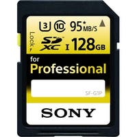 Sony SF-G1P Professional SDXC UHS-I Flash Memory Card (128 GB) - Black