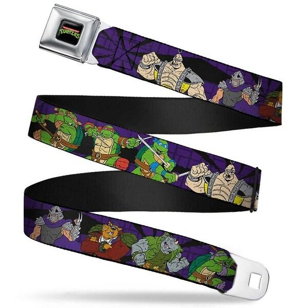 Classic Tmnt Logo Full Color Classic Teenage Mutant Ninja Turtles Group & Seatbelt Belt
