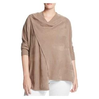 Love Scarlett Womens Plus Cardigan Sweater Jacquard Drape